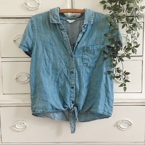 Aéropostale Blue Denim Button-Down Shirt
